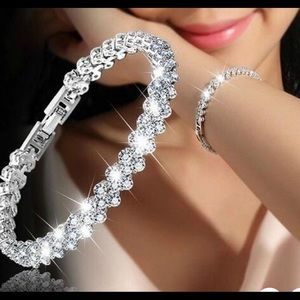 Crystal/Silver Bracelet